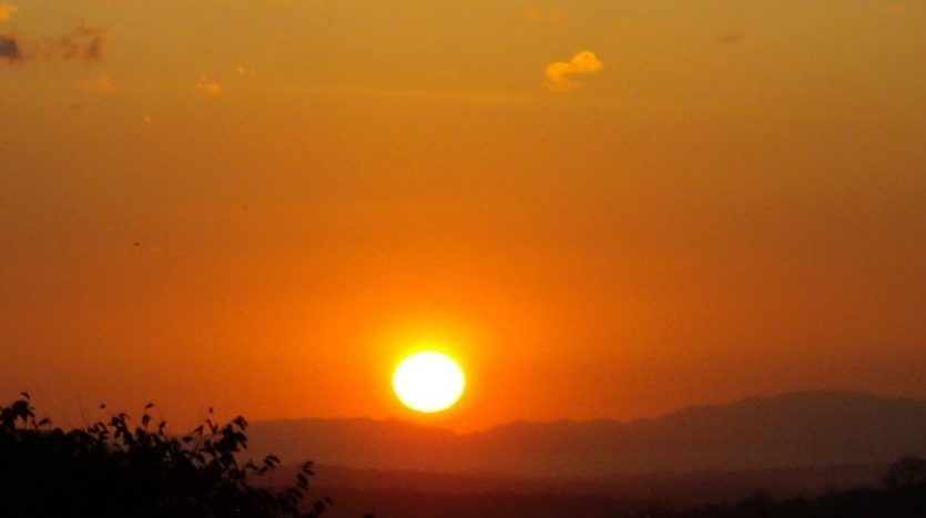 Summer sunsets at this house for sale in Atenas Costa Rica